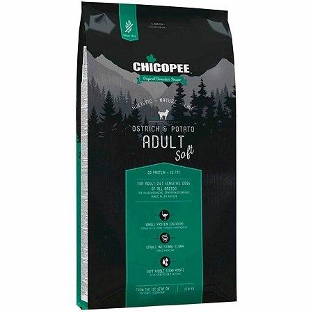 Корм для собак Chicopee HNL Soft страус-картофель 12кг