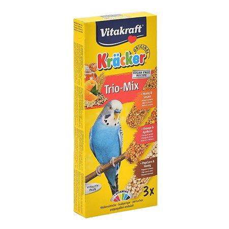 Лакомство для волнистых попугаев Vitakraft Крекеры мед-кукуруза-апельсин 3шт 21239