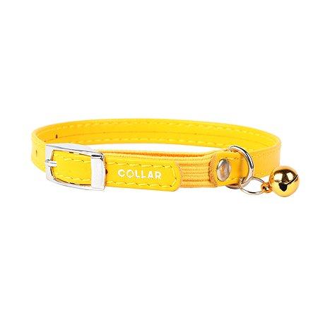 Ошейник для кошек CoLLar Glamour с резинкой Желтый 32488