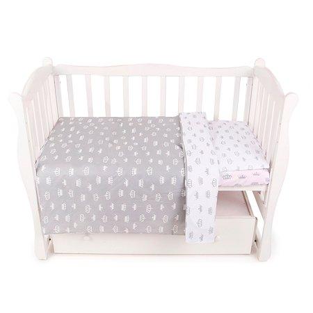 Комплект постельного белья AMARO BABY Fortuna Королевский 3предмета Серый