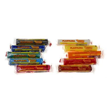 Пластилин Jovi 15г*10цветов в коробке с европодвесом