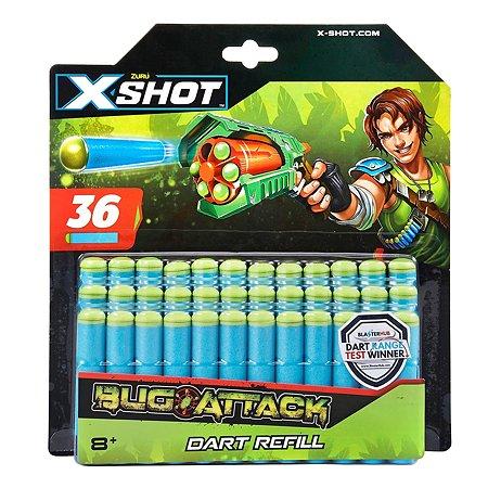 Набор X-SHOT Атака Жуков 36 дротиков 4836