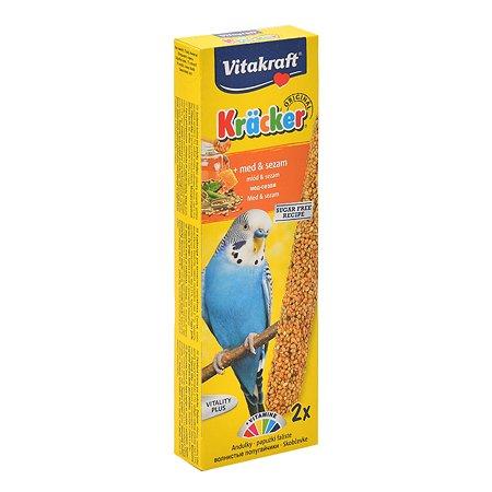 Лакомство для волнистых попугаев Vitakraft Крекеры медовые 2шт 10606