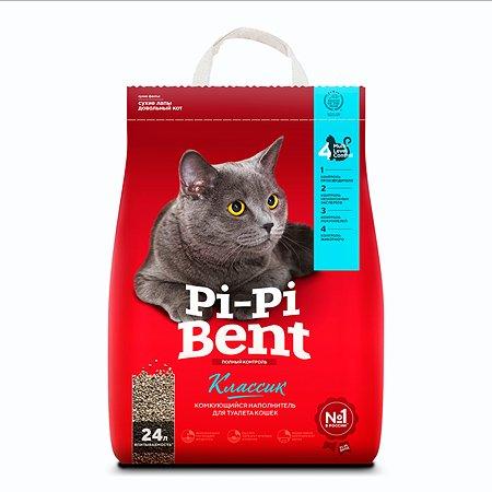 Наполнитель для кошек Pi-Pi-Bent комкующийся крафт пакет 10кг 12011