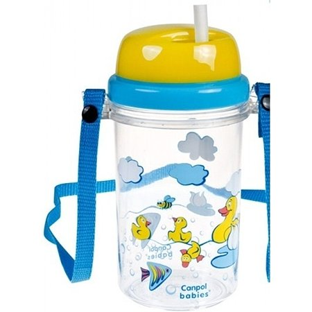 Поильник Canpol Babies с трубочкой Голубой