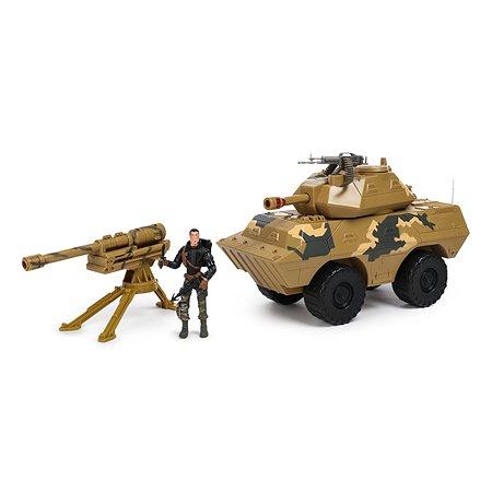 Бункер-танк Global Bros транспортное средство, 2 фигурки, аксессуары Бежевый