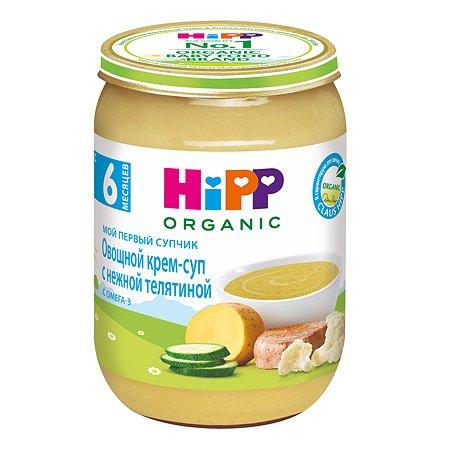 Крем-суп Hipp овощи-телятина 190г с 6месяцев