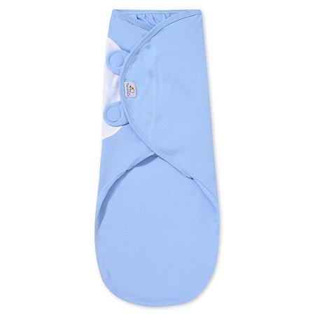 Пеленка Pecorella SwaddleFun на липучках L 4.5-8.5кг Ocean Blue