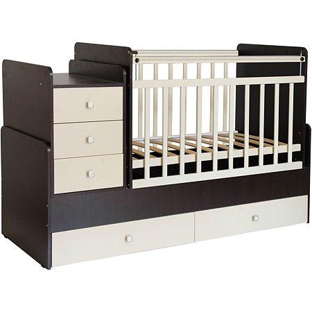 Кровать детская Фея 1100 Венге-Бежевый 0001033.5