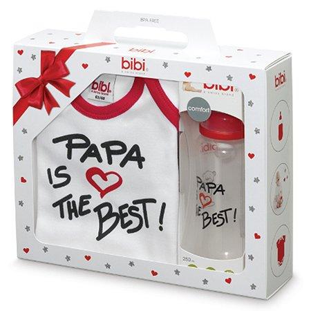 Подарочный набор Bibi Рара классика боди рост 62-68 см + бутылочка антиколиковая 250 мл