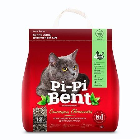 Наполнитель для кошек Pi-Pi-Bent комкующийся крафт пакет 5кг 50598