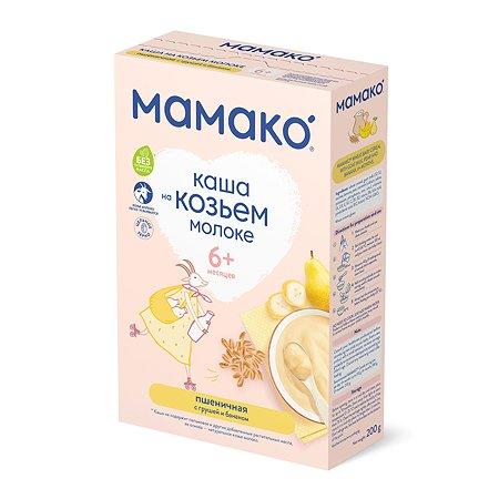 Каша Мамако пшеничная с грушей и бананом 200г с 6месяцев