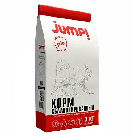 Корм для собак Jump! Trio ягненок-говядина-птица 3кг
