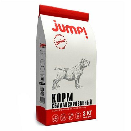 Корм для щенков Jump! Junior ягненок-птица 3кг