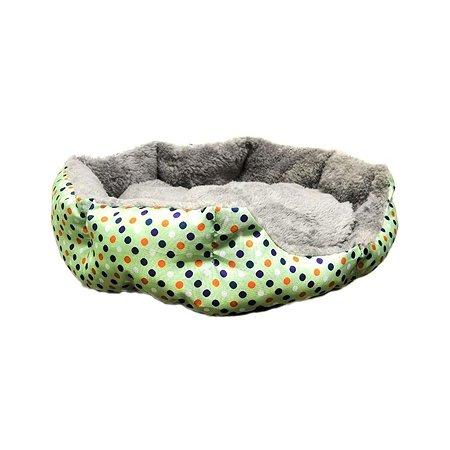 Лежак для кошек Ripoma Круглый меховой зеленый Ripoma
