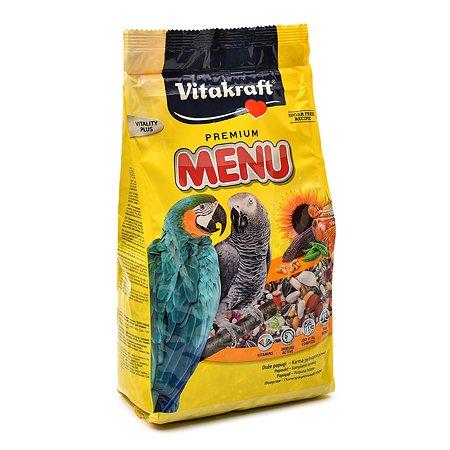 Корм для попугаев Vitakraft Menu крупных 1кг 10601