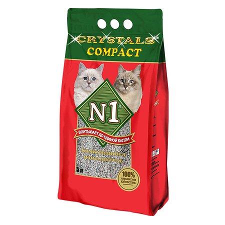 Наполнитель для кошек N1 Crystals Compact комкующийся 5л