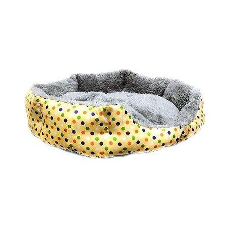 Лежак для кошек Ripoma Круглый меховой желтый Ripoma