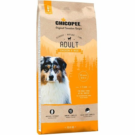 Корм для собак Chicopee CNL курица-рис 15кг