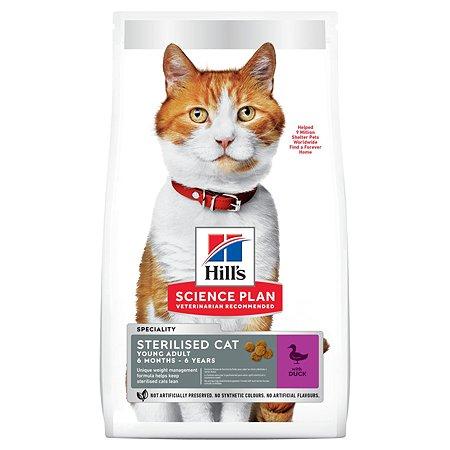 Корм для кошек HILLS стерилизованных с уткой 1.5кг