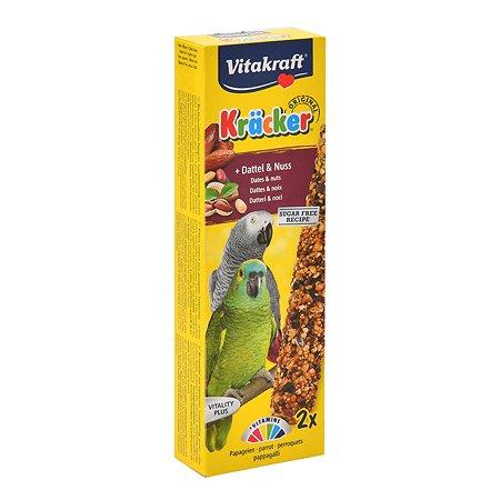 Лакомство для попугаев Vitakraft африканских Крекеры фрукты-орехи 2шт 21290
