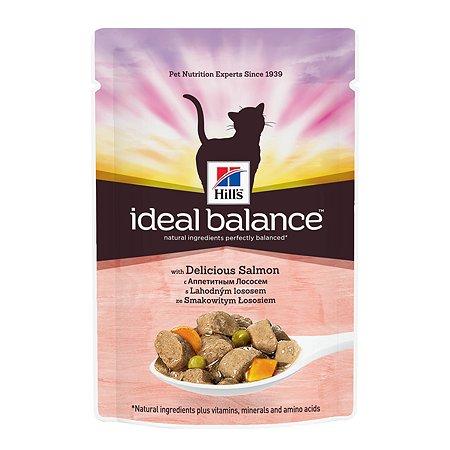 Корм влажный для кошек HILLS Ideal Balance 85г с аппетитным лососем пауч