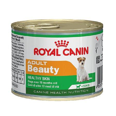 Корм для собак ROYAL CANIN Beauty для поддержания здоровья шерсти и кожи конс 195г