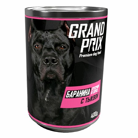 Корм для собак Grand Prix Аппетитные кусочки баранина с тыквой в соусе консервированный 400г