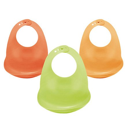 Слюнявчик пластиковый Happy Baby мягкий 1 шт. 6+ в ассортименте
