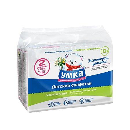 Салфетки влажные Умкa детские Экономичная упаковка 140шт