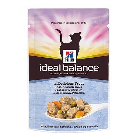 Корм влажный для кошек HILLS Ideal Balance 85г с аппетитной форелью пауч