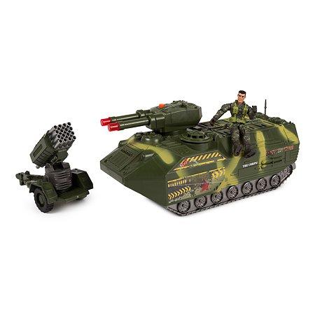 Бункер-танк Global Bros камуфляжный (транспортное средство, 2 фигурки, аксессуары)