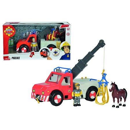 Набор Fireman Sam Машина Феникс, фигурка и лошадь