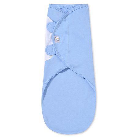Пеленка Pecorella SwaddleFun на липучках M 2.5-6.5кг Ocean Blue