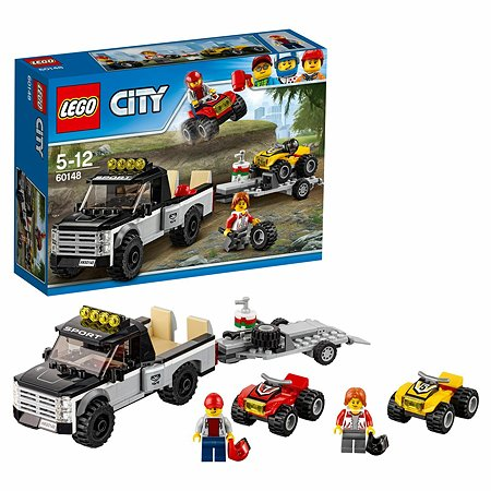 Конструктор LEGO City Great Vehicles Гоночная команда (60148)
