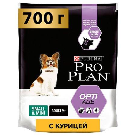 Корм для собак PROPLAN старше 9 лет для мелких и миниатюрных пород курица с рисом 700г