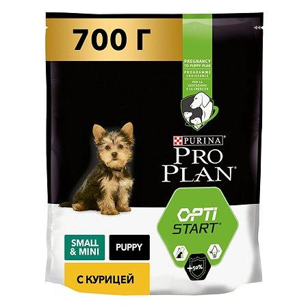 Корм для щенков PROPLAN мелких и карликовых пород с комплексом Optistart курица с рисом 700г