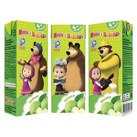 Сок Маша и Медведь яблоко осветленный 0.2л с 4месяцев в ассортименте