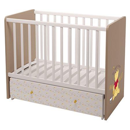 Кровать Polini kids Disney Baby Медвежонок Винни и его друзья Белый-Макиато 0001606.47
