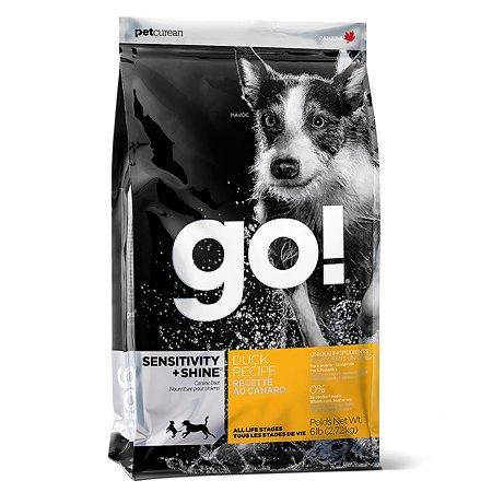 Корм для собак GO с уткой и овсянкой сухой 2.72кг