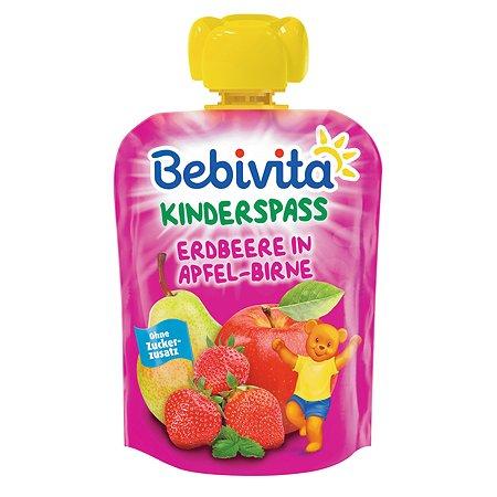 Пюре Bebivita яблоко-груша-клубника 90г с 6месяцев