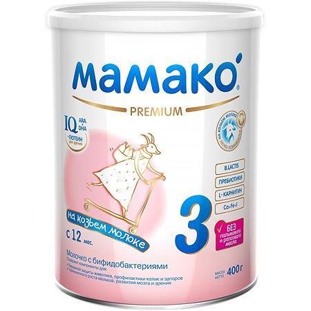Смесь Мамако Premium 3 на козьем молоке 400г с 12месяцев
