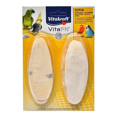 Лакомство для птиц Vitakraft Sepia Schale камень для заточки клюва 2шт 31317