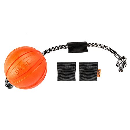 Игрушка для собак Liker Корд Мячик с магнитами большой