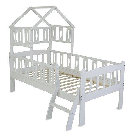 Кровать подростковая Babyton Соня 2 с крышей Белый