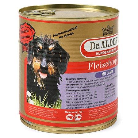 Корм для собак Dr.Alders Гарант ягненок консервированный 750г