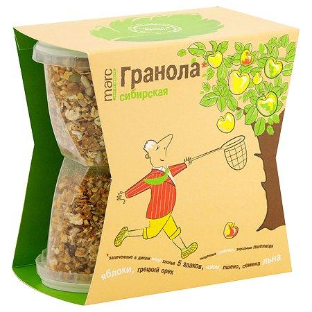 Гранола Marc&Фиса Сибирская яблоко-грецкий орех 390г