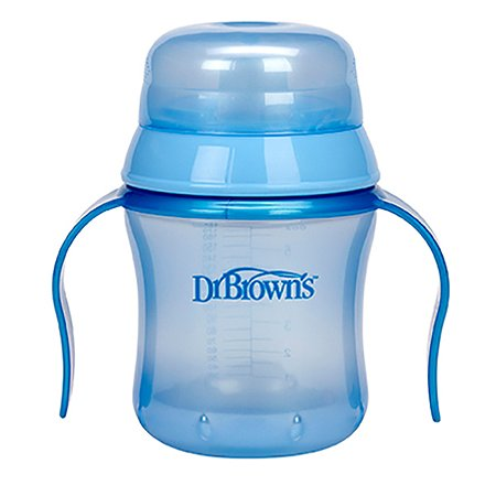 Чашка-поильник Dr Brown's с мягким носиком 180 мл в ассортименте