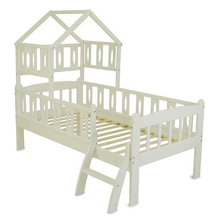 Кровать подростковая Babyton Соня 2 с крышей Бежевый