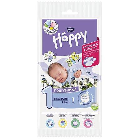 Подгузники Bella baby Happy Newborn 1 2-5кг 1шт
